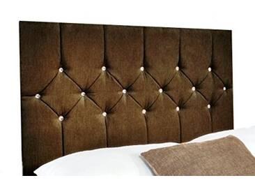 Interiors 2pour u Petit Simple Belle en Chenille Diamante Cristal/tête de lit, 2m, 15cm Marron