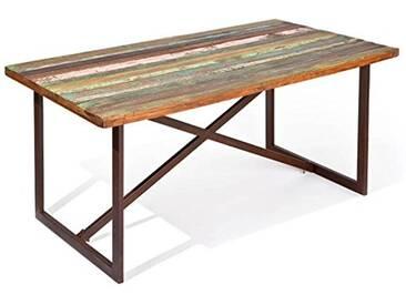 Links 85300400 Colori Table Bois Recyclé Rouille 160 x 90 x 76 cm