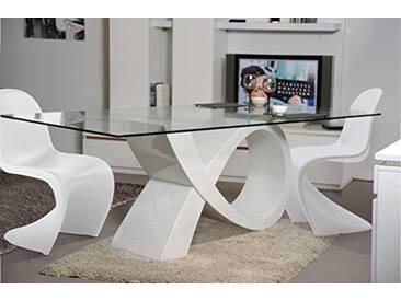 giovanni marchesi design Ensemble Table Alpha ET 4 CHAISES Pop Art Blanc