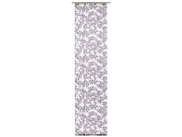 GARDINIA Panneau Japonais (1 Pièce), Opaque, Tissu Lavable, Motifs Panicules, Blanc/Lilas, 60 x 245 cm (LxH)