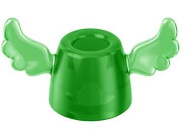 Koziol 5834543 Hermes Porte-Brosse à Dents Plastique Transparent/Vert 3,9 x 7,4 x 4,3 cm