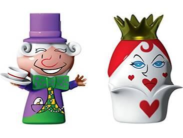 Alessi Amgi47set2 the Hatter & the Queen of Hearts Set de deux Figurines en Porcelaine, decorées à la Main