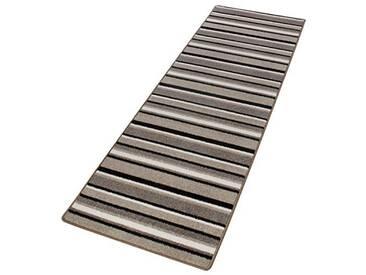 andiamo Plano Läufer mit Streifen Tapis, Polypropylène, Beige/Gris, 80 x 150 cm