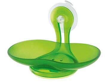 koziol porte-savon Loop, thermoplastique, vert transparent, 9 x 14 x 9 cm