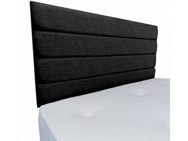 Interiors 2Combinaison U Leah Parure de lit capitonnée, Tissu, Noir, 7.5x 90x 62cm