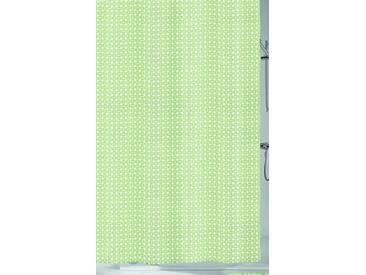Kleine Wolke Textilgesellschaft 5290619305 Dots Rideau de Douche Plastique Vert 200,00 x 180,00 cm
