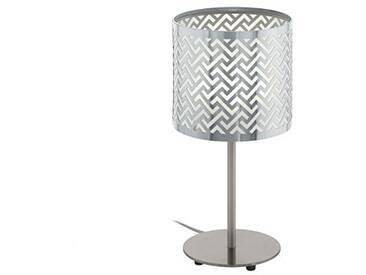 EGLO 49167 Lampe de table Acier, E27, 60 W, Nickel-Matt, Chrom