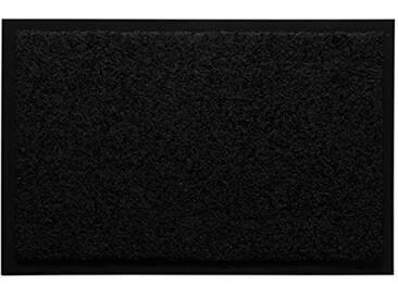 andiamo 700625Paillasson/Tapis de Porte, uni, Noir, 60 x 90 cm