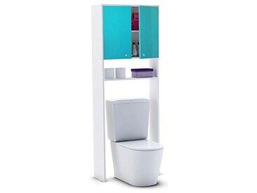 Berlioz Creations Meuble WC, MDF, Lagon, L L 63 x P 25 X 178 cm