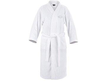 Lay-Z-Spa Robe de Chambre de Luxe pour Homme et Femme hautement absorbante, Blanc, Small/Medium