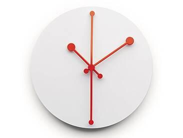 Alessi ABI11 W Horloge Murale Acier Inoxydable, Weiss, 9 x 0,86 x 8,5 cm