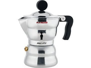 A di Alessi AAM33/1 Moka Alessi Cafetière Espresso en Fonte Daluminium, Poignée et Pommeau en Résine Thermoplastique, Noir, 1 Tasse
