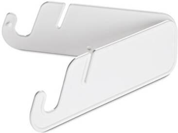 Koziol 5933525Dumbo Support de tablette, plastique, blanc, 0,6x 12.6x 3,8cm