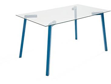 Soliving TRANSEND Table Repas, Verre, 140 x 80 x 75 cm