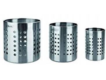IBILI 708710 Porte Ustensiles de Cuisine INOX, Argent, 12,49 x 10,21 x 10,21 cm