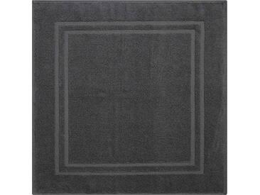 Grund Tapis de Bain Linea Due, 100% polyacrylique, Ultra Doux, antidérapant, certifié Öko-Teх, Flash, Coton, Pavia - Anthrazit, 60 x 60 cm