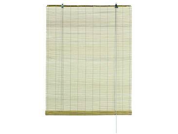 GARDINIA Store à rouleau en bambou naturel, Installation au plafond ou au mur, Perméable à la lumière, Non-transparent, Toutes les pièces dinstallation incluses, 120 x 160 cm (lxL)
