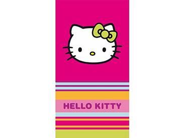 CTI Drap DE Plage 85X160 Hello Kitty Kim 100% Coton, Rose Bleu Orange/Vert
