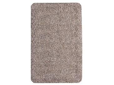 andiamo 700607 Paillasson Samson uni 50 x 80cm en coton, lavable à 30°C, Coton, granite, 40x60 cm