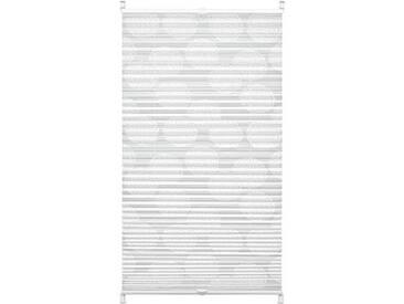 Gardinia Store plissé à clipser, Opaque, Kit de Pose inclus, EASYFIX Maja, Store Plissé à 2 Rails, Blanc, 60 x 130 cm (L x H)