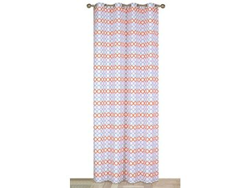 Atout Ciel Lignes d'anneaux Rideau - Paire de Vitrages Prêt à Poser Polyester, Parme, 140x240x8 cm