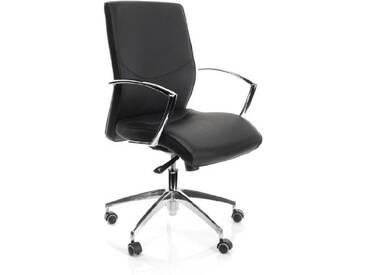 hjh Office 600650 Siège de Bureau - Siège de Direction Barbera 10 Simili Cuir Noir