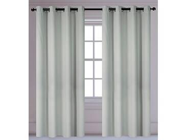 LJ Home Fashions Luxura réduisant la luminosité Interiors 2pièces isolantes à œillets/Anneaux Paire de Rideaux, 142x 241cm, Argent