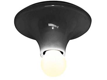 Artemide Teti Gris Anthracite Applique Plafonnier Wall Ceiling Lamp Anthracite Grey Design Vico Magistretti 1970