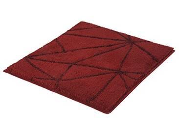 Kleine Wolke Textilgesellschaft 4087468539 Tapis de Bain, Polyacrylique, Rouge Foncé, 55 x 65 x 2 cm
