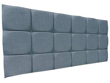 Interiors 2Combinaison U Alice Parure de lit capitonnée, Tissu, Bleu Canard, 7.5x 76x 62cm