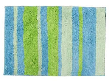 InterDesign 18981EU Stripz Tapis Microfibre Polyester Bleu/Vert 60 x 90 cm