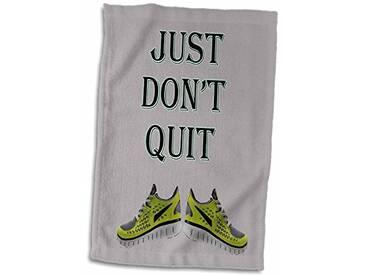 3dRose Just Dont Quit/Sport Gym Régime Populaire Dicton Serviette, Blanc, 15x 55,9cm