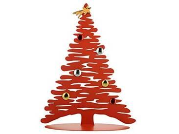 Alessi BM06/30 R Décoration de Noël Acier coloré à la résine au époxyde,Porcelaine, Rouge, Taille Unique
