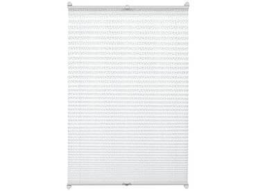 GARDINIA Store Plissé à Clipser, Opaque, Kit de Montage Inclus, Store Plissé à 2 Rails EASYFIX, Motif Mosaïque, Blanc, 100 x 130 cm (LxH)