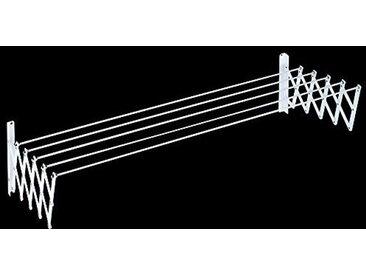 Tender Fil Corde à Linge Extensible, métal, Blanc, 80cm