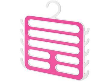 Interdesign 62902EU Remy Porte-écharpe Cuir Bycast/Plastique Blanc/Rose 1,27 x 29,21 x 29,85 cm