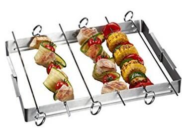 GEFU GE89279 Rack à Brochettes Barbecue Acier Inoxydable Inox 34 x 33 x 3,5 cm