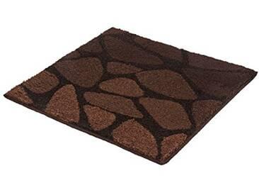Kleine Wolke Textilgesellschaft Tapis de Bain Inspire, Polyacrylique, Marron, 60 x 60 x 1,5 cm