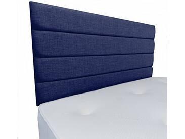 Interiors 2Combinaison U Leah Parure de lit capitonnée, Tissu, Bleu Nuit, 7.5x 90x 62cm