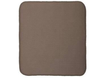 InterDesign iDry tapis de sechage, grand tapis égouttoir vaisselle en microfibres polyester, tapis évier épais pour un séchage rapide, moka/ivoire