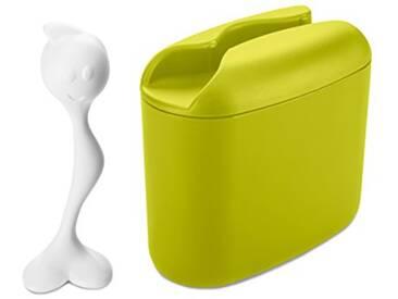 Koziol 3057451 Hot Stuff Boîtes à Lunch Plastique Vert Moutarde/Blanc 28 x 28 x 18 cm