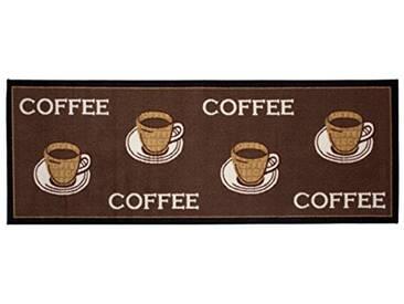 andiamo 1100335 Tapis de cuisine Motif tasses de café Marron 67 x 180 cm
