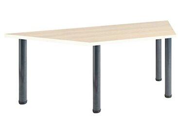 Eliza Tinsley Furniture T-MOD/1600T/GM 1600mm Forme trapézoïdale érable Versa Table avec Cadre Gris Marteau
