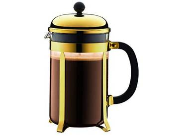 BODUM - 1932-17 - CHAMBORD - Cafetière à piston - 12 tasses - 1.5 L - Or