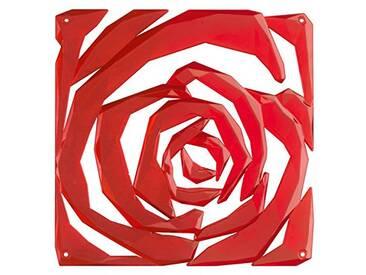 Koziol Romance – Séparateur de pièce/Ornement en Plastique, Plastique, Transparent Red, 0.4 x 26.9 x 27 cm