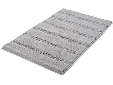 Kleine Wolke Textilgesellschaft Tapis de Bain Monrovia, Polyester, Gris, 60 x 100 x 2,5 cm