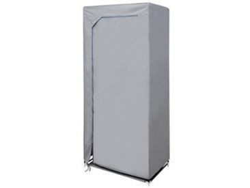House Box ARMOPE015 Armoire Penderie Tissu/Synthétique Gris 150 x 70 x 5 cm