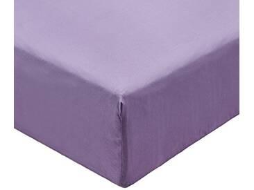 Designers Guild - Saraille Heather Drap Housse Satin de Coton Violet 160 x 200 cm