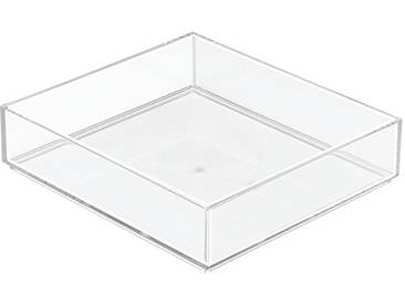 InterDesign Clarity rangement de tiroir, grand range couverts en plastique, organiseur de tiroir pour couverts et autres ustensiles, transparent