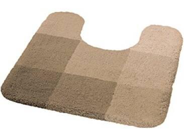 Kleine Wolke 5514217129 Square Tapis de Bain WC Polyacrylique Beige 55 x 55 cm